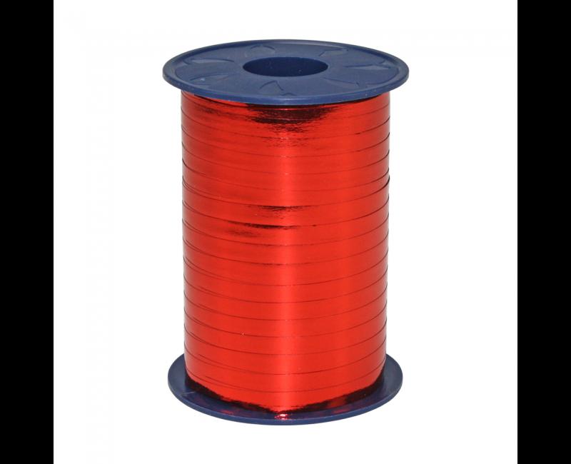 Rol lint 5mm rood metallic, 250 meter