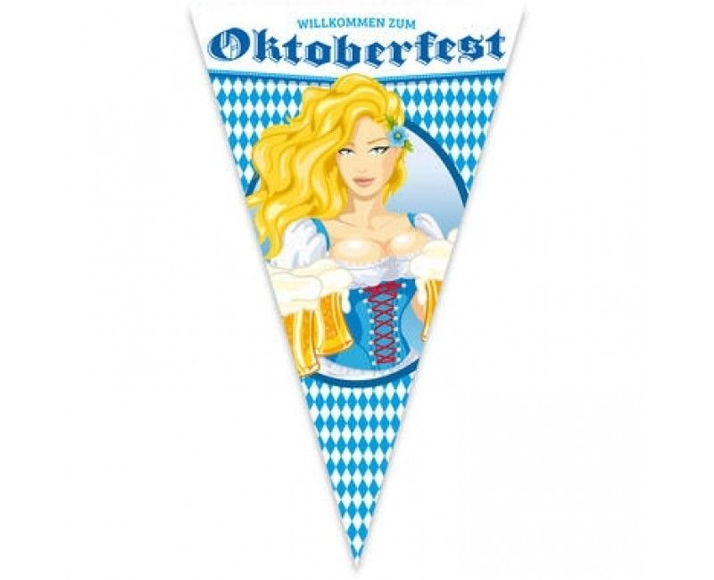 Mega vlag Oktoberfest bierpullen, 90 x 150cm