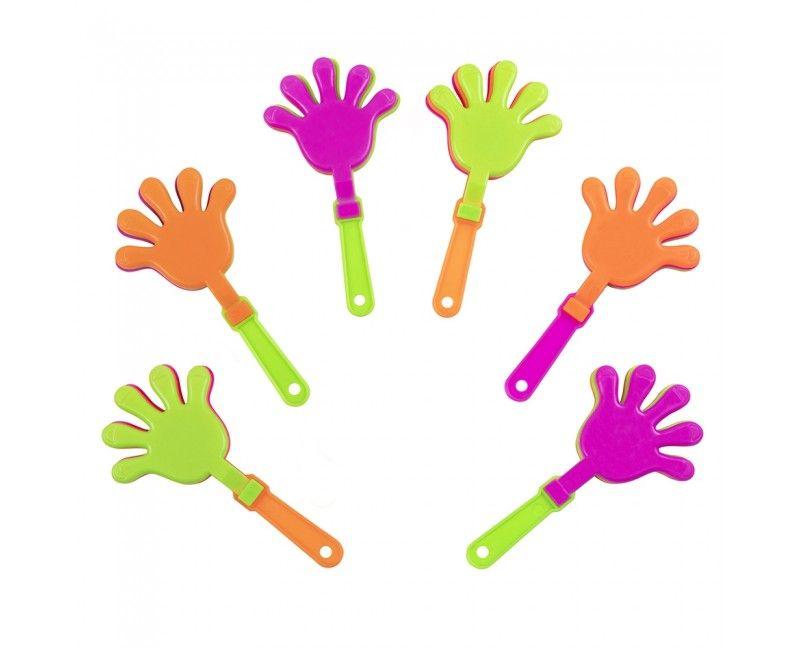 Mini hand klappers, 6 stuks