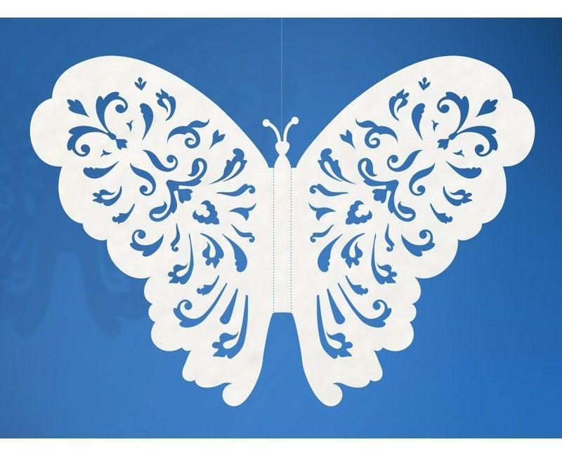 Decoratieve papieren vlinders, 10 stuks