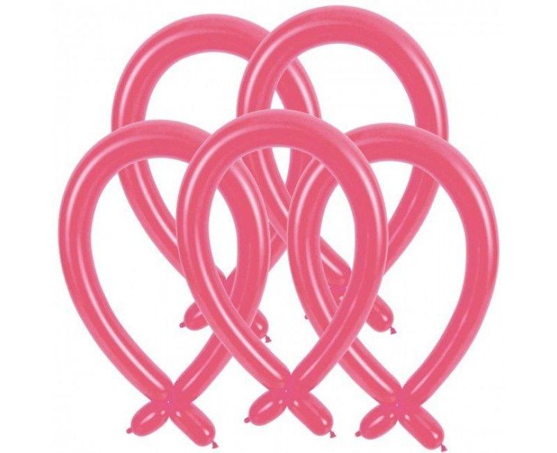 Modelleer ballonnen roze, 25 stuks