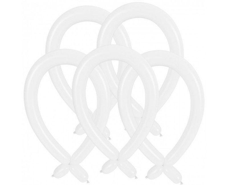 Modelleer ballonnen wit, 25 stuks