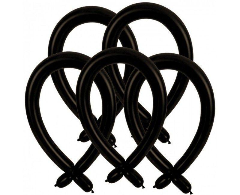 Modelleer ballonnen zwart, 25 stuks