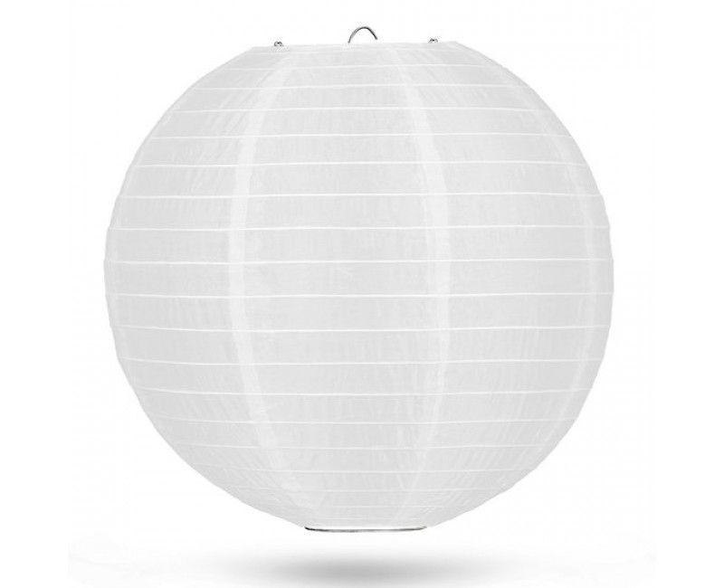 Nylon lampion 50cm wit