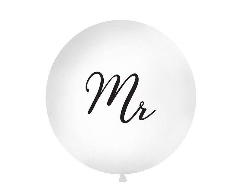 """Reuzeballon 90cm """"Mr"""", per stuk"""
