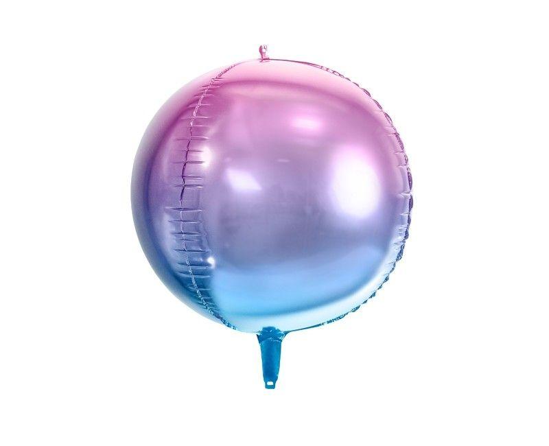 Folieballon orbz 45cm blauw en paars, per stuk