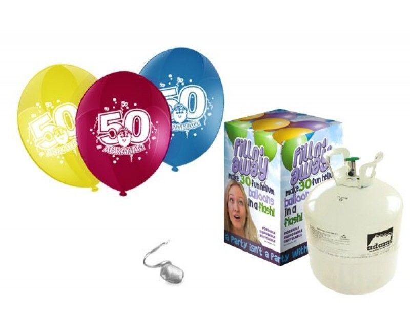 Heliumtank met 30 ballonnen Abraham 50 jaar