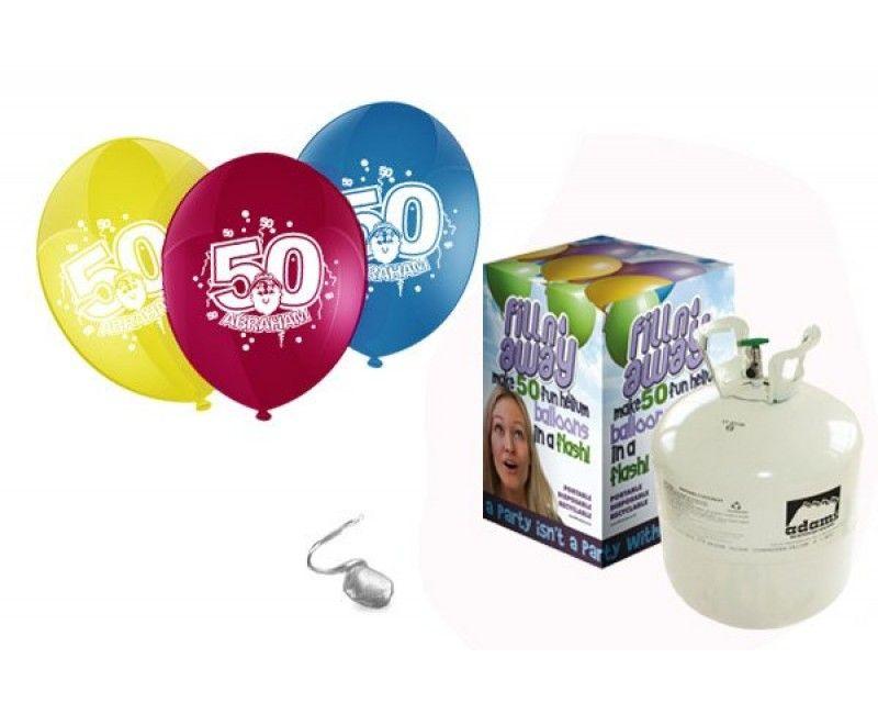 Heliumtank met 50 ballonnen Abraham 50 jaar