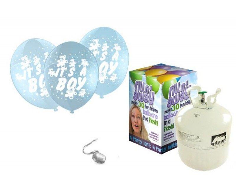 Heliumtank met 30 ballonnen It's a boy