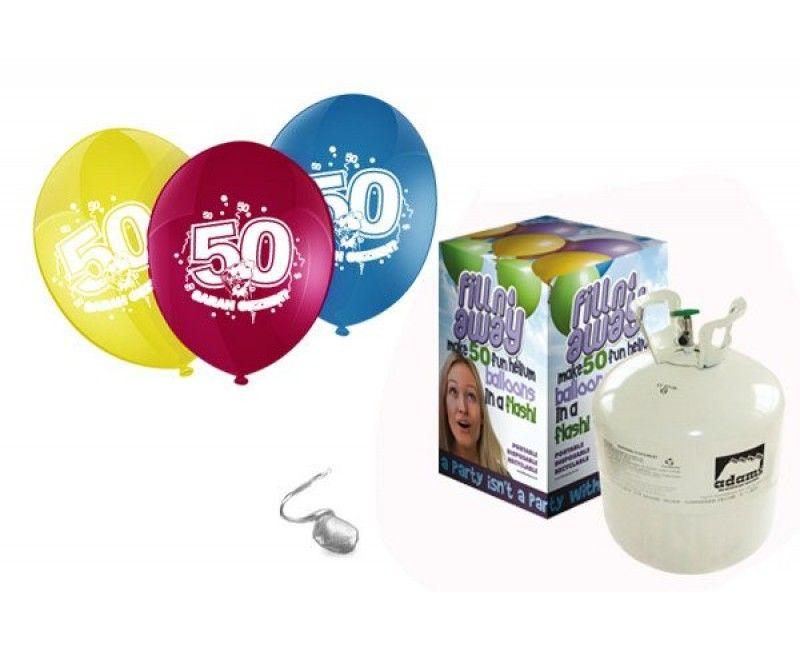 Heliumtank met 50 ballonnen Sarah 50 jaar
