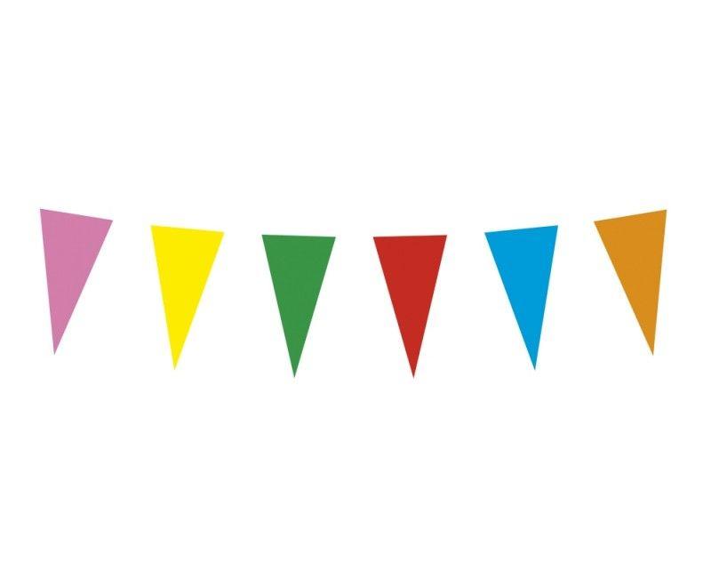 Papieren vlaggenlijn slinger multicolour 10 meter