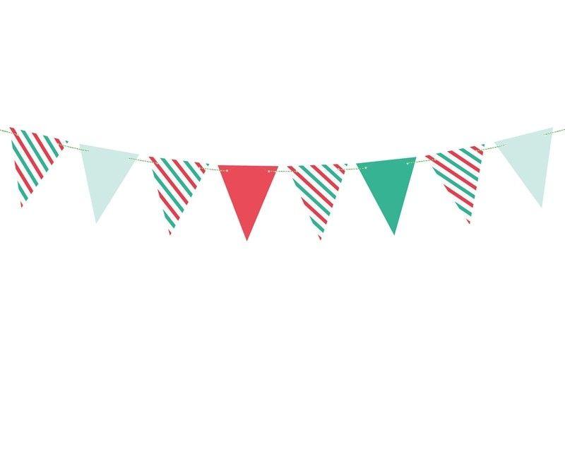 Papieren vlaggenlijn slinger Merry Xmas 1.3 mtr