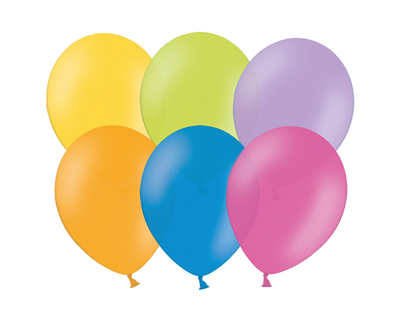 Party ballon 27cm assortie, 50 stuks