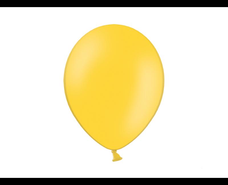 Party ballon honing geel, 50 stuks