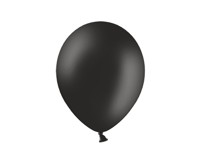 Party ballon 27cm zwart, 10 stuks