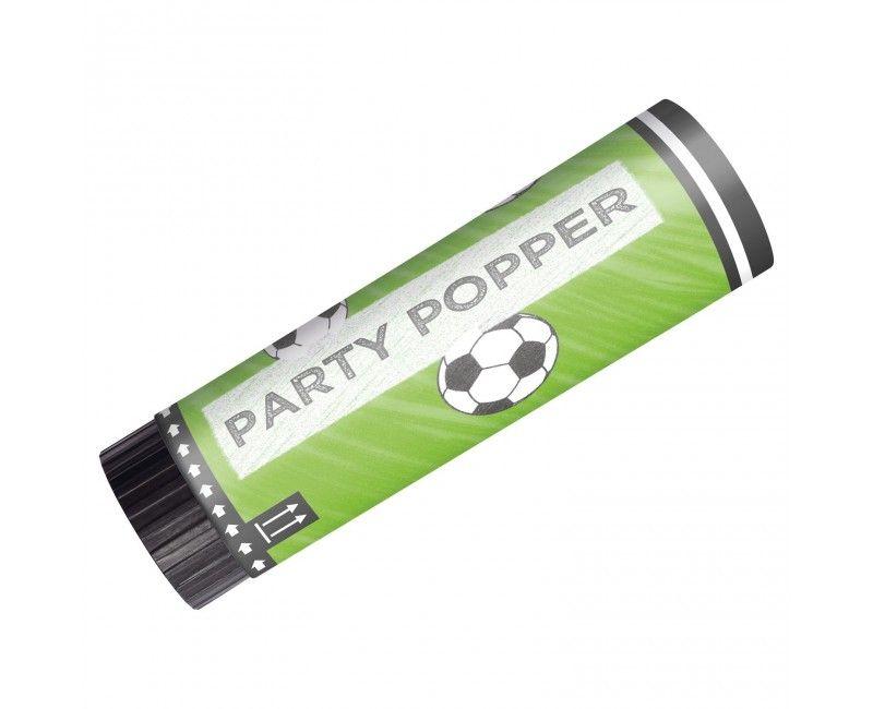 Party popper voetbal, 2 stuks