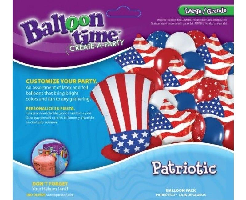 Combi ballonpakket Patriotic uncle Sam large