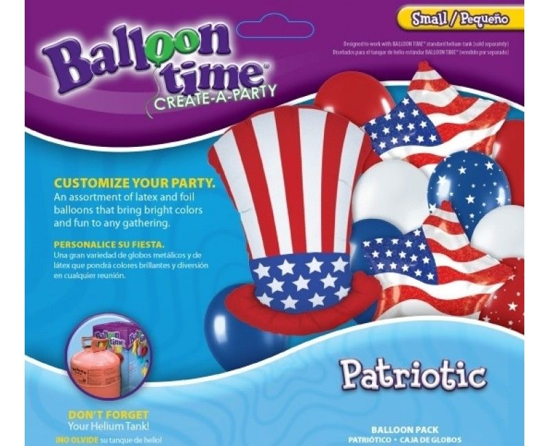 Ballonnen combi set Patriotic uncle Sam