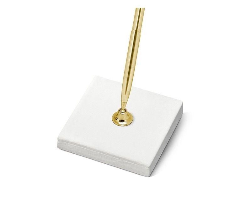 Pen standaard met gouden pen