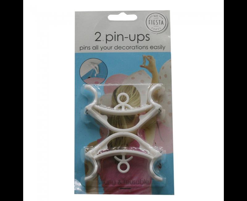 Pin-up ophangklemmen, 2 stuks