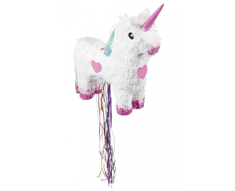 Trek pinata unicorn wit en roze