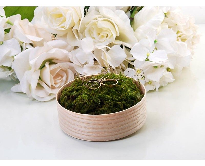 Houten trouwringen doosje nature, afmeting 12cm