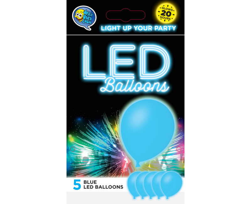 LED ballonnen blauw 5 stuks