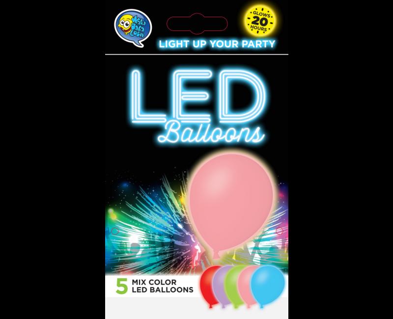LED ballonnen mix kleuren 5 stuks