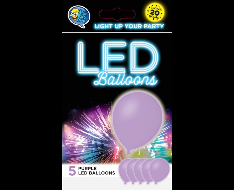 LED ballonnen paars 5 stuks