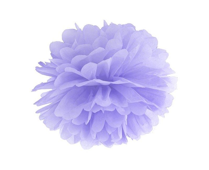 Pompom lavendel 35cm, per stuk