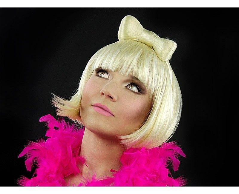 Pruik Lady Gaga blond