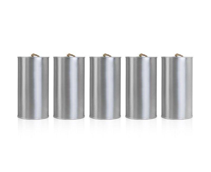 Set blikjes trouwauto zilver