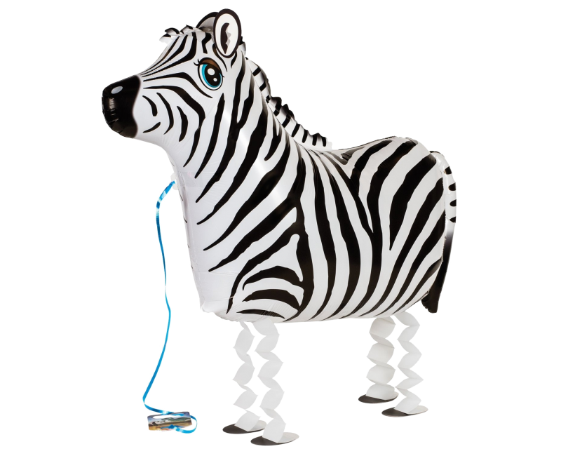 Walking Balloon Zebra 63cm