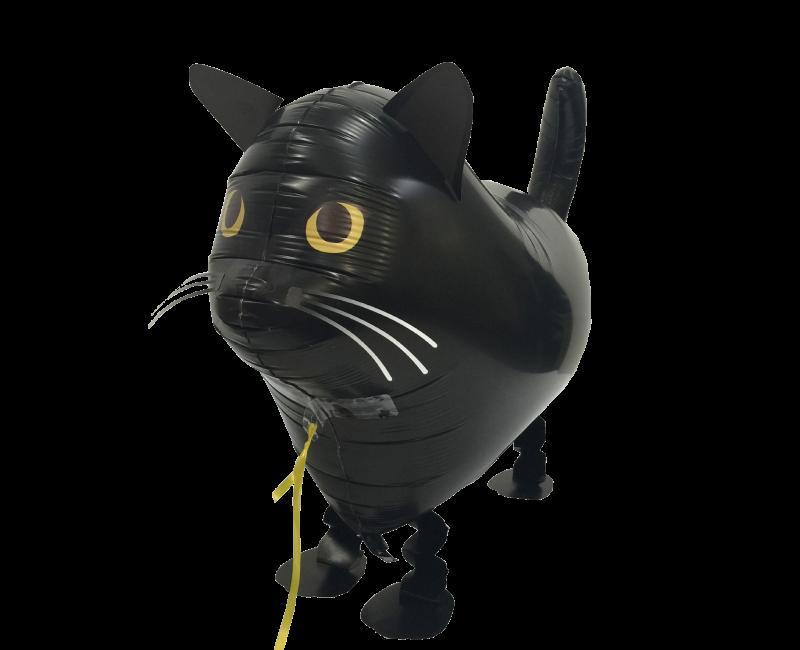Walking balloon Zwarte kat 55cm