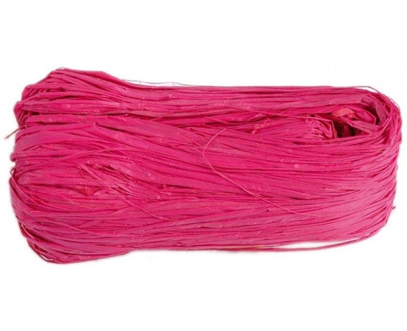 Raffia lint roze, lengte 4 meter