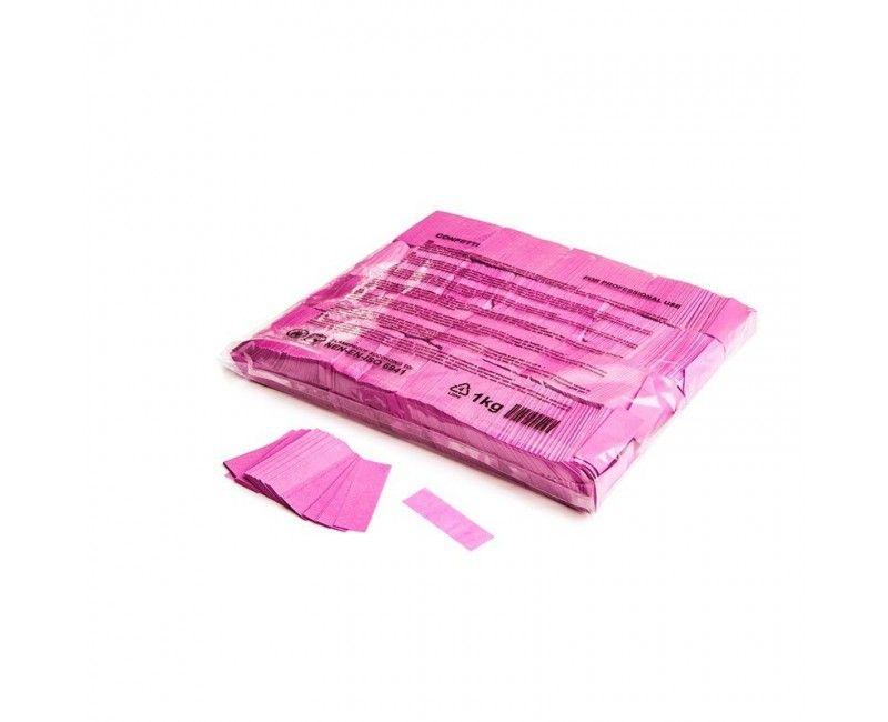 Slowfall paper confetti roze rectangles 17 x 55mm, brandvertragend