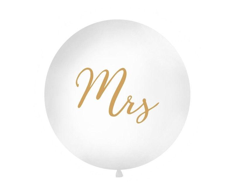 "Reuzeballon 90cm ""Mrs"" goud, per stuk"