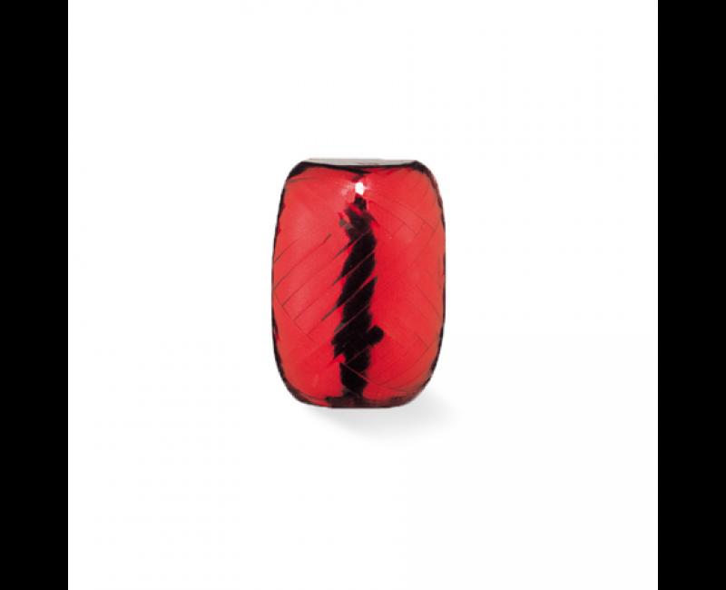 Rolletje lint 5mm rood metallic, 20 meter