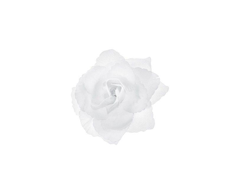 Witte rozen 9cm zelfklevend, 24 stuks