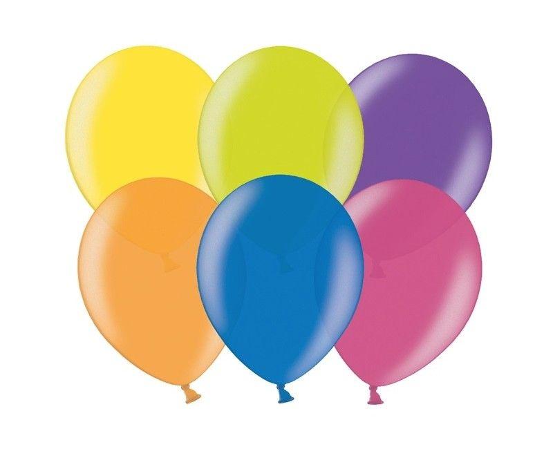 Party ballon 30cm assorti metallic, 50 stuks
