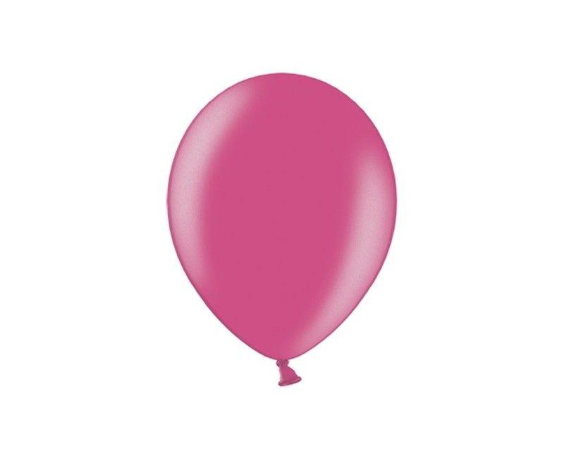 Party ballon 27cm roze metallic, 50 stuks
