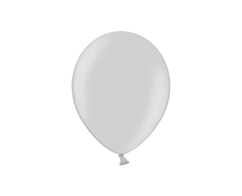 Party ballon 30cm zilver metallic, 10 stuks