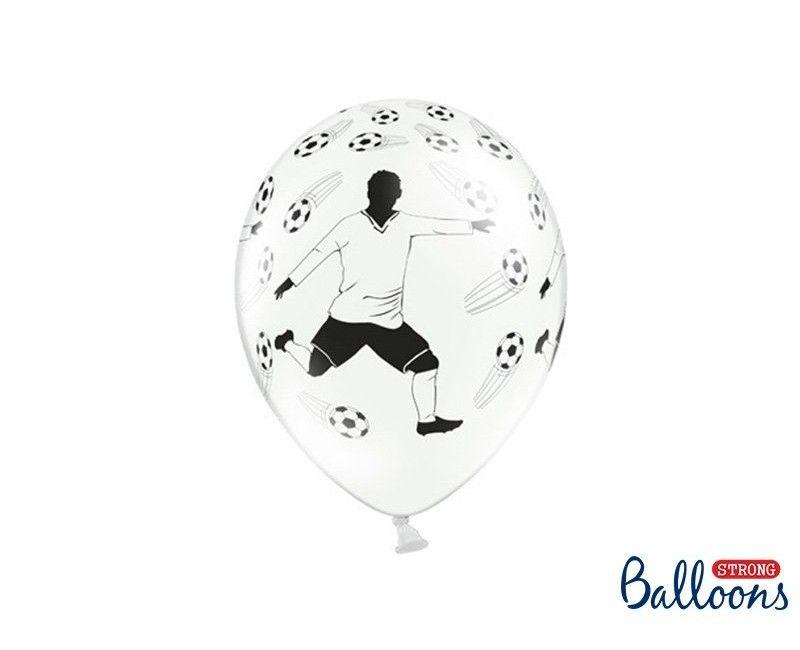 Ballonnen wit met voetballers