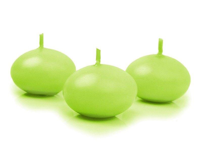 Drijvende kaarsen licht groen