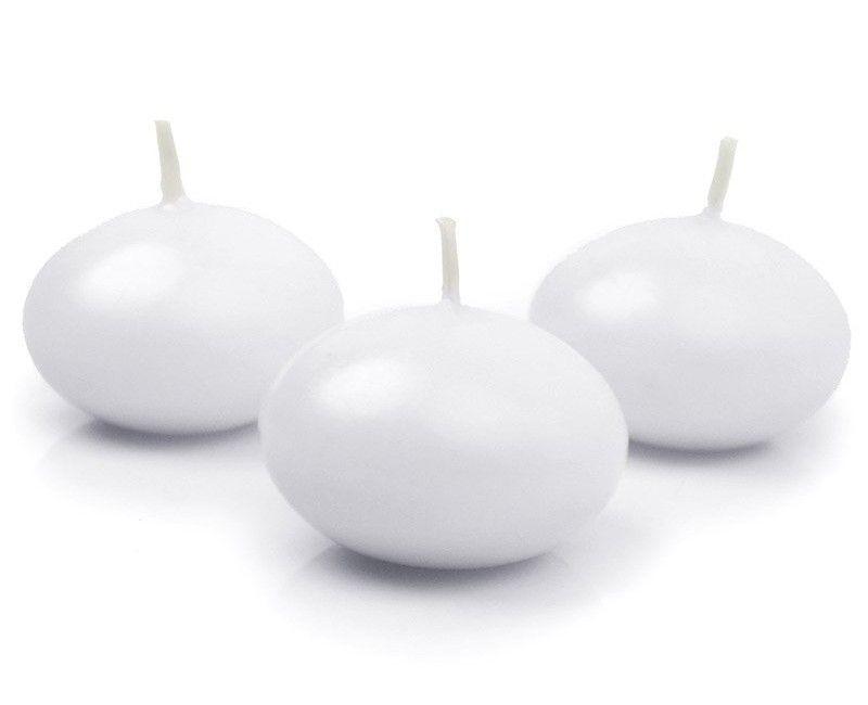 Drijvende kaarsen wit, 10 stuks