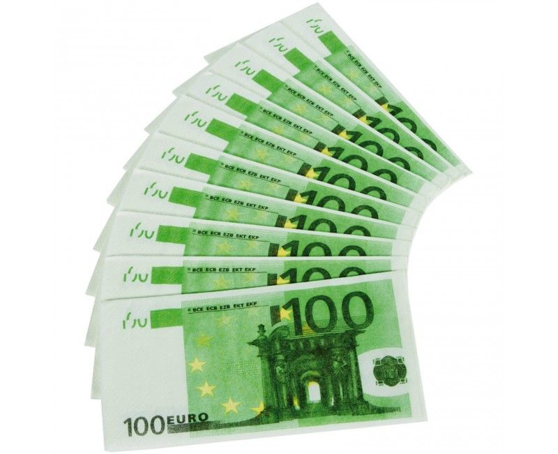 Servetten 100 euro, 10 stuks
