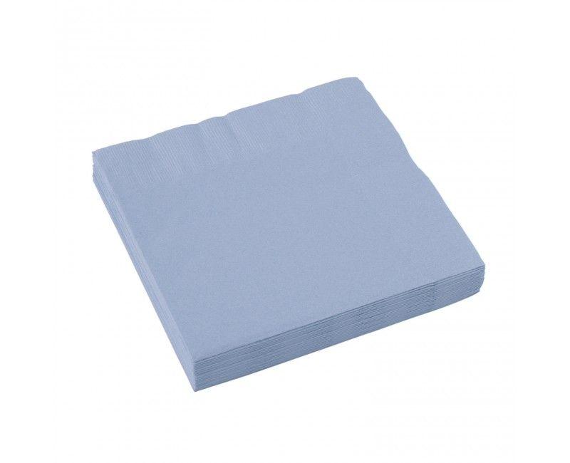 Servetten lichtblauw 25 x 25cm, 20 stuks