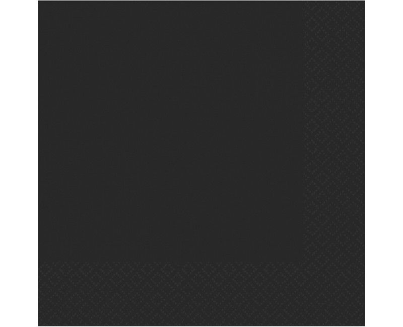 Servetten zwart 33 x 33cm, 20 stuks