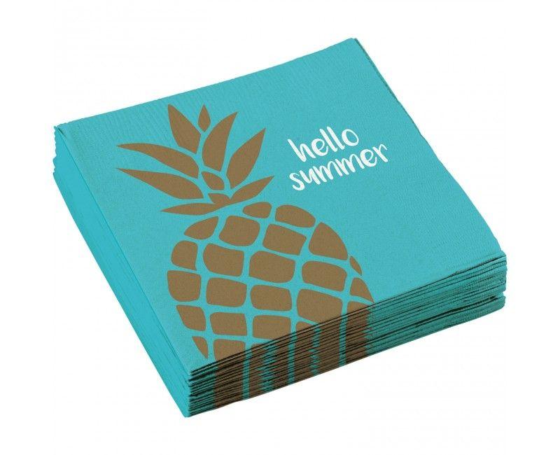 Servetten Ananas stijl 33 x 33cm, 20 stuks