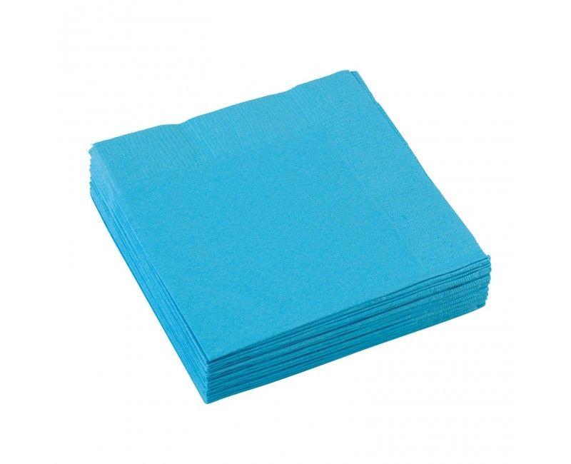 Servetten carribean blauw 25 x 25cm, 20 stuks